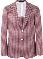 Z Zegna checked blazer - men - Linen/Flax/Polyamide/Cupro/Wool - 48