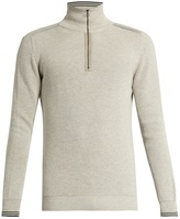 Lanvin Zip-front cotton and wool-blend sweater