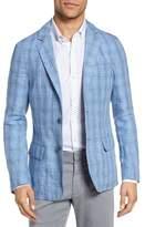 Zachary Prell Men's Laxus Plaid Linen Sport Coat