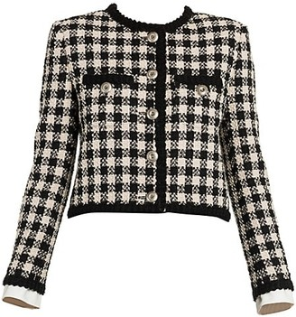 Miu Miu Gingham Tweed Jacket
