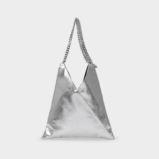MM6 MAISON MARGIELA Handbag Japanese Crossbody In Silver Eco Leather