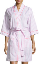 BedHead Striped Kimono Short Robe, Pink