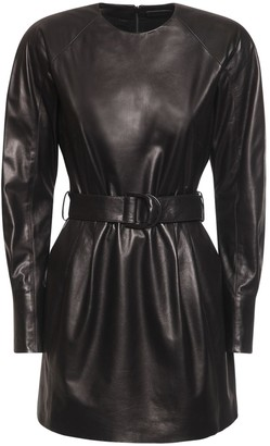 Drome Leather Mini Dress W/ Belt