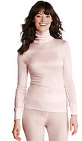 Classic Women's Silk Interlock Turtleneck-Ivory