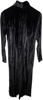 Masscob Black Velvet Dress for Women