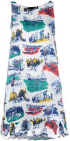 Love Moschino printed dress - women - Viscose - 40