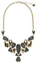 Louise et Cie Cut Stone & Metal Statement Necklace