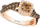 LeVian Le Vian Chocolatier® Diamond Twist Ring (1-1/10 ct. t.w.) in 14k Rose Gold