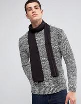 Asos Scarf In Black With Merino Wool