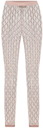 Gucci Embellished GG tulle leggings