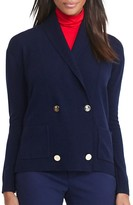 Lauren Ralph Lauren Shawl Collar Double Breasted Cardigan