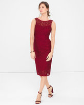 White House Black Market Sleeveless Lace Sheath Dress