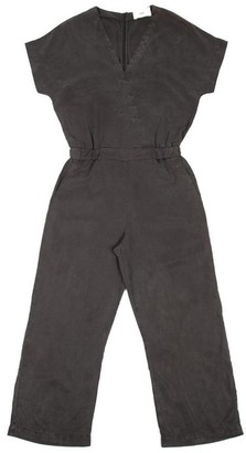 Folk Wrap Jumpsuit In Soft Black - XS