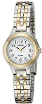 Seiko Women's SUP100 Solar Expansion Two-Tone Stainless Steel Classic Watch