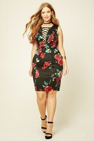 Forever 21 FOREVER 21+ Plus Size Floral Midi Dress