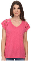 DKNY Embroidered Eyelet Tee