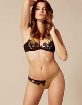 Agent Provocateur Nayeli Thong Gold And Black