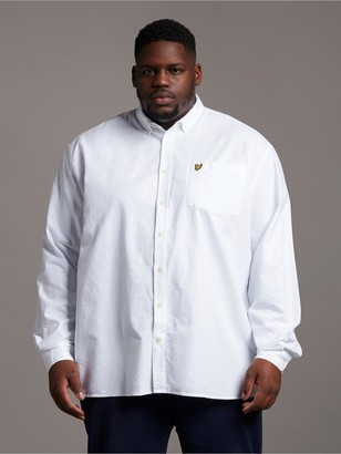 Lyle & Scott Big & Tall Long Sleeved Oxford Shirt - White