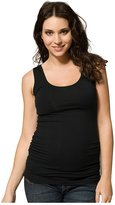 Ripe Maternity Tube Tank - Scoop Neck - Black-XL