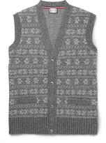 Moncler Gamme Bleu Fair Isle Wool-blend Vest