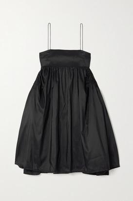 Cecilie Bahnsen Lisbeth Gathered Taffeta Mini Dress - Black