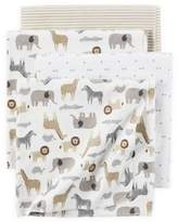 Carter's 4-Pack Safari Print Receiving Blankets in Brown/Grey