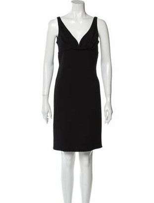 Oscar de la Renta 2007 Mini Dress Wool