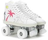 Saint Laurent Sea Sex Sun Embellished Leather Roller Skates