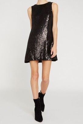 Alice + Olivia Kamryn Sequin Cowl Back Mini Dress