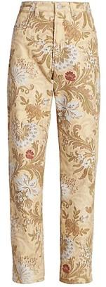 Dries Van Noten Paisley Floral Straight-Leg Jeans