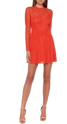 Bardot Sara Long Sleeve Lace Minidress