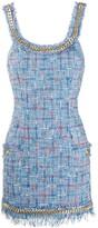 Balmain tweed chain short dress