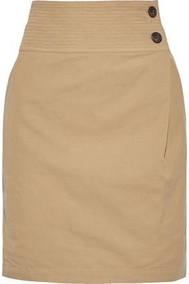 Vanessa Bruno Itasca Cotton, Linen And Tencel-blend Twill Mini Skirt