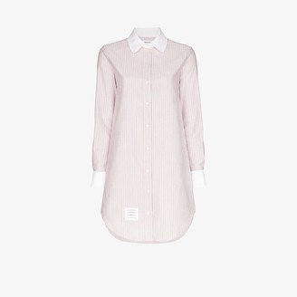 Thom Browne University Stripe Cotton Shirt Dress