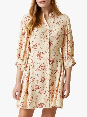 Jigsaw Scribble Print Shirt Dress, Vanilla