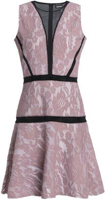 Just Cavalli Mesh-paneled Lace Mini Dress