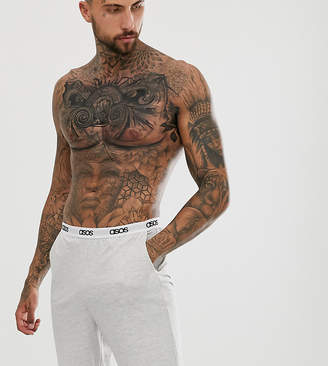 Asos Design DESIGN lounge short in gray marl with branded waistband