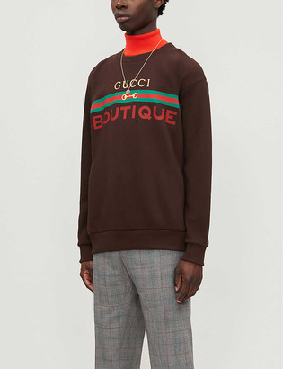 Gucci Boutique graphic-print cotton-jersey sweatshirt