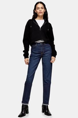 Topshop Womens Indigo Mom Tapered Jeans - Indigo