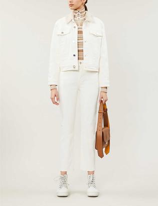 Claudie Pierlot Victor stretch-denim jacket