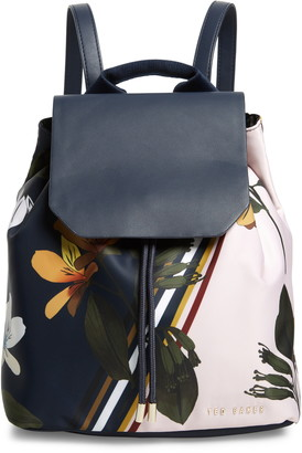 Ted Baker Taitumm Savanna Nylon Drawstring Backpack