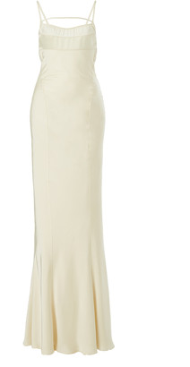 Jacquemus Novio Tie-Detailed Satin Gown