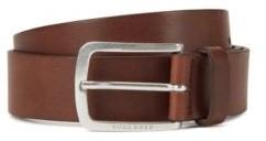 HUGO BOSS Pin-buckle belt in vegetable-tanned Italian leather