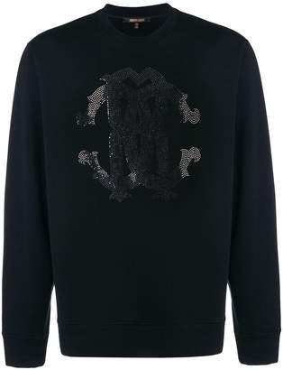 Roberto Cavalli embellished logo sweatshirt