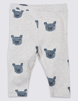 Marks and Spencer Pure Cotton Bear Printed Leggings