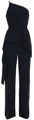 Roland Mouret One-shoulder Crepe Peplum Jumpsuit
