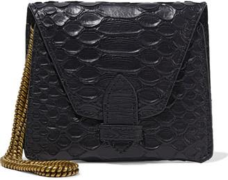 Zimmermann Snake-effect Leather Envelope Clutch