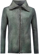 Avant Toi wing collar slim-fit jacket - men - Cotton/Cashmere/Wool - S