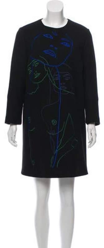 Stella McCartney Embroidered Wool Dress Black Embroidered Wool Dress