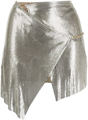 Poster Girl Asymmetric Mini Skirt